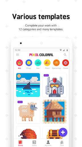 Pixel ColorFil: Color by Number screenshots 1