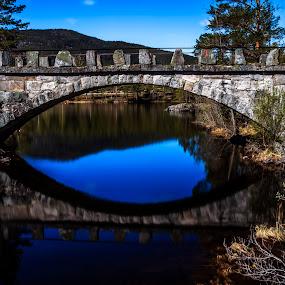 Old bridge by Sondre Gunleiksrud - Buildings & Architecture Bridges & Suspended Structures ( canon, blue sky, lee, riverside, nature, waterscape, long exposure, bridge, norway,  )