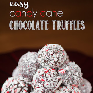 Easy Candy Cane Chocolate Truffles.