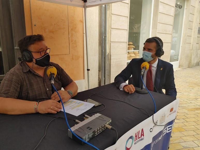 El alcalde de Almería, Ramón Fernández-Pacheco, en la SER