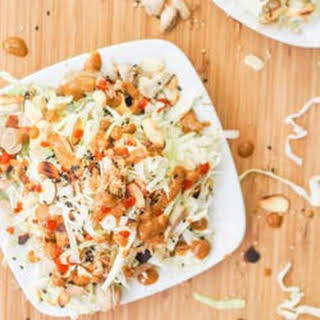 Asian Cabbage and Chicken Salad with Creamy Tahini Dressing {Gluten-Free, Dairy-Free}.