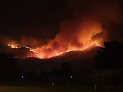 A fire is raging between George and Oudtshoorn in the southern cape.