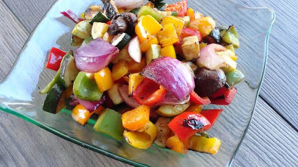 Balsamic Vinegar And Soy Sauce Marinated Grilled Vegetables