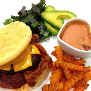 ULTIMATE KETO LOW CARB BACON CHEESE BURGER and CHIPS Recipe