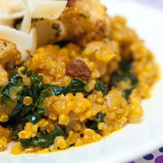 Curry Quinoa and Kale Cauliflower Bowl.