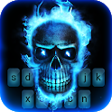 Fire Skull Animated Keyboard + Live Wallpaper icon