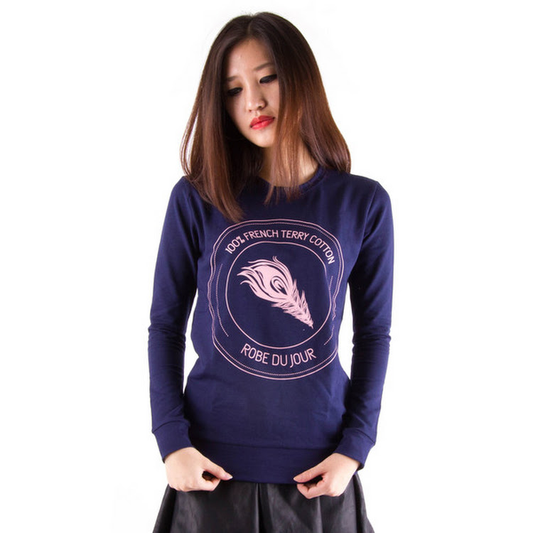 Terry Logo Sweater Navy by Meridian Street Sdn Bhd