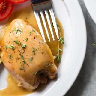 Maple-Mustard Chicken Thighs