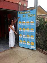 Photo: Kari showing me the local empanada goods