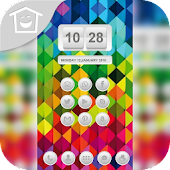 Colorful diamond lattice theme