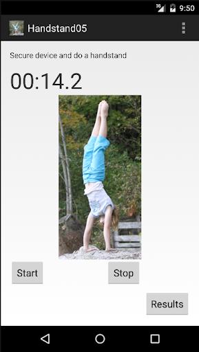 Handstand stopwatch