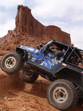 Photo: The BDS Jeep with Merrimac Butte in Moab in the background