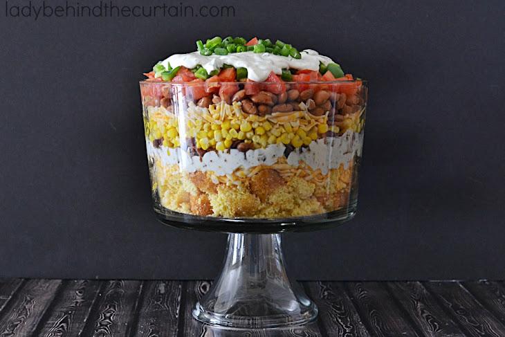 Layered Corn Bread Salad Recipe   Yummly