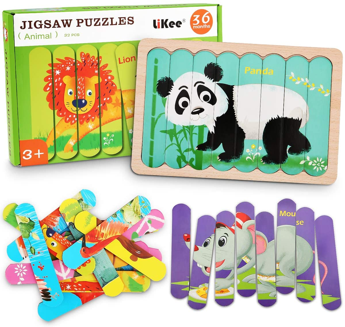 wooden animal jigsaw puzzle for children