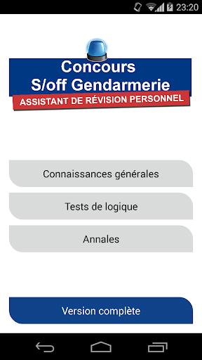 Concours s off Gendarmerie