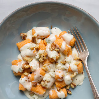 Gluten-Free Sweet Potato Gnocchi with Gorgonzola Cream Sauce