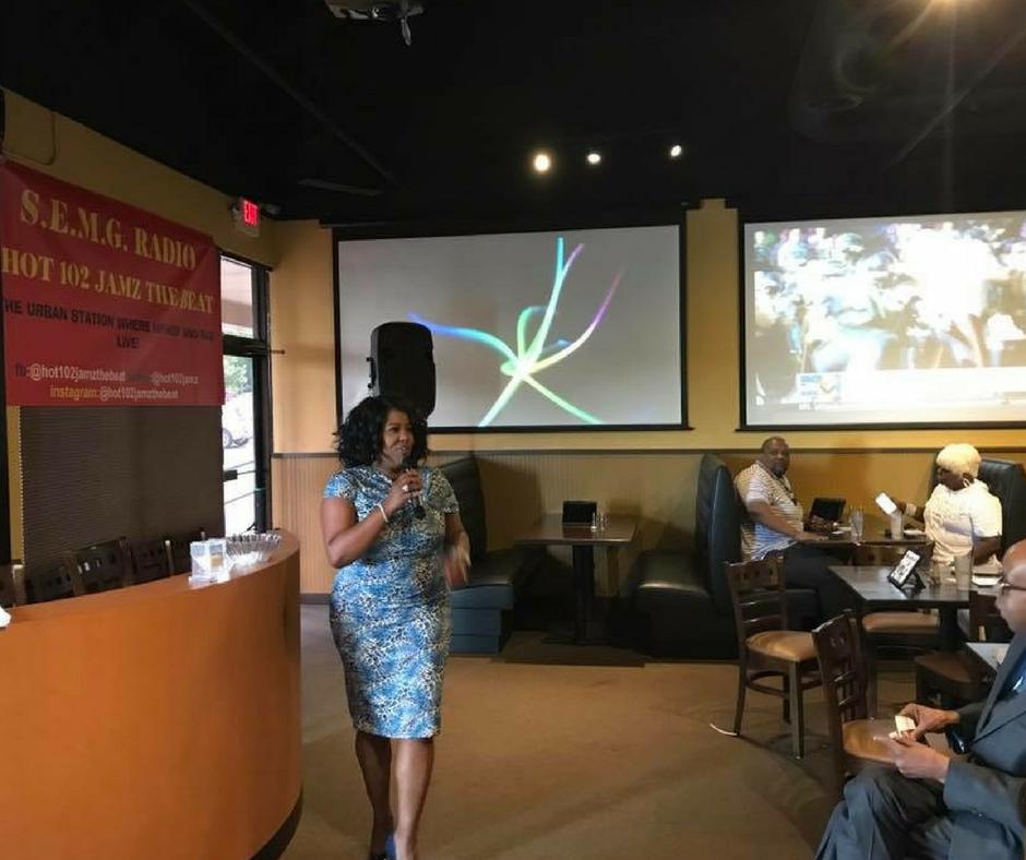 Linda Chatmon giving a talk