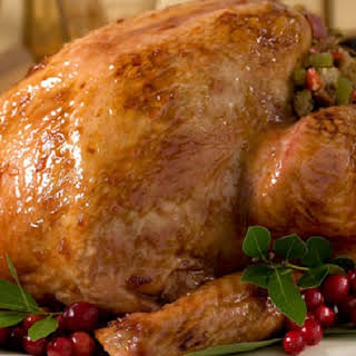 Roast Turkey with Cranberry Orange Glaze.
