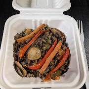 Wild Rice Sautéed with Veggies c/w Bannock
