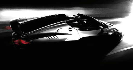 Italian automotive design and engineering company ItalDesign will show a roadster version of its Zerouno supercar in Geneva. Picture: ITALDESIGN