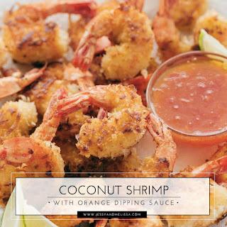 Coconut Shrimp with Orange Dipping Sauce.