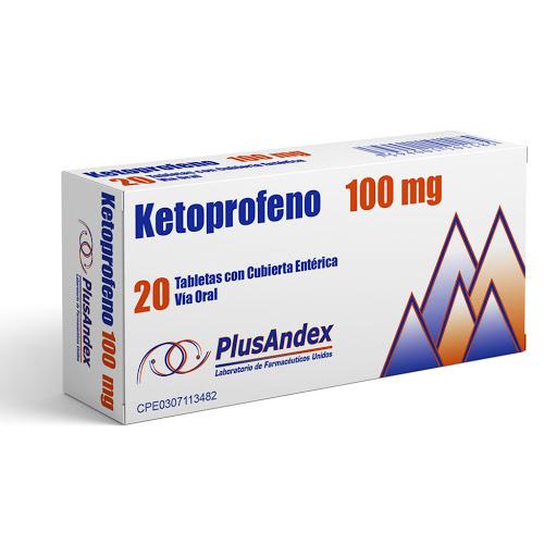 ketoprofeno 100mg 20tabletas plusandex