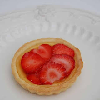 Strawberry and Calisson Tart.