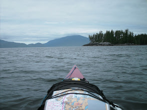 Photo: Darby Channel with Calvert Island in the distance across Fitz Hugh Sound.
