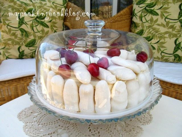 Торта бяла гора (White Forest Cake)