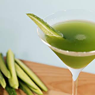 Cucumber martini with Hendrick's gin and tarragon.