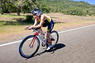 Photo: Daniela Faustino Mehech of Cal lead most of the bike leg.