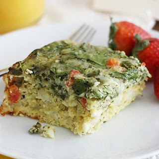 Slow-Cooker Cheesy Spinach Breakfast Casserole.