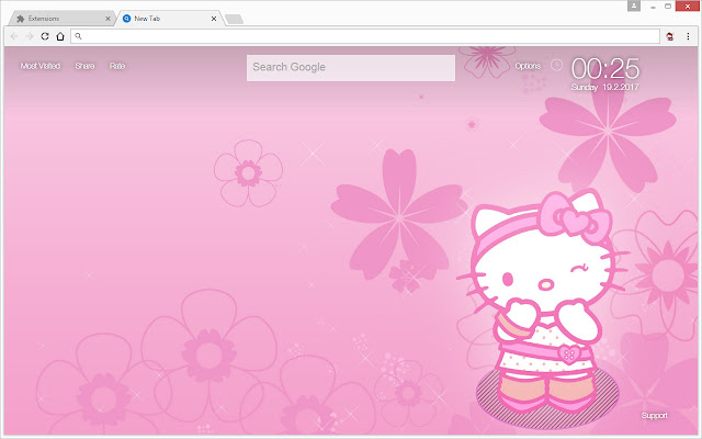 New Tab Themes With HD Wallpapers Of The Cute Hello Kitty