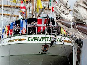 Photo: #022-Journée à l'Armada 2008. Le Cuauhtemoc, un trois-mâts barque (Mexique).