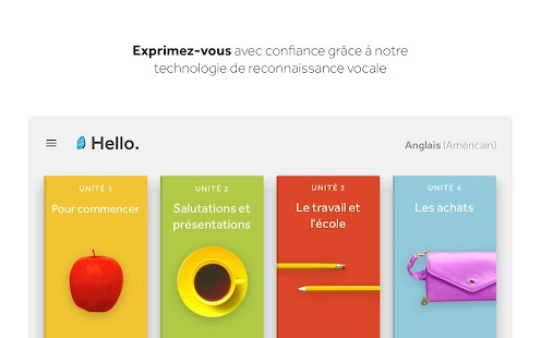 Rosetta Stone : Apprentissage linguistique Capture d'écran