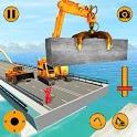 Real Bridge Construction Simulator :Crane Cons icon