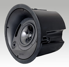 Photo: Krix Atmospherix A20 angled in-ceiling speaker, without grille.