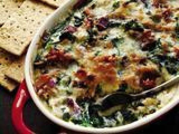 Artichoke Dip  With Candied Bacon Recipe