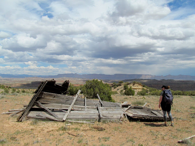 Nearly-collapsed Smith Cabin