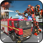 Rescue Robot Transformation Firetruck Simulator