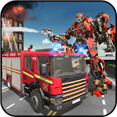 Rescue Robot Transformation Firetruck Simulator
