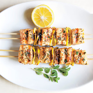 Spiced Salmon Kebabs.