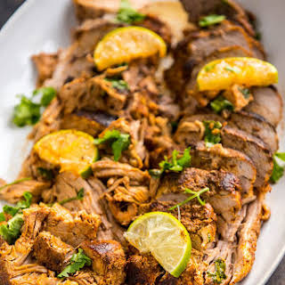 Slow Cooker Chili Lime Pork Roast.