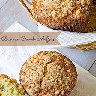 Texas Style Banana Crumb Muffins