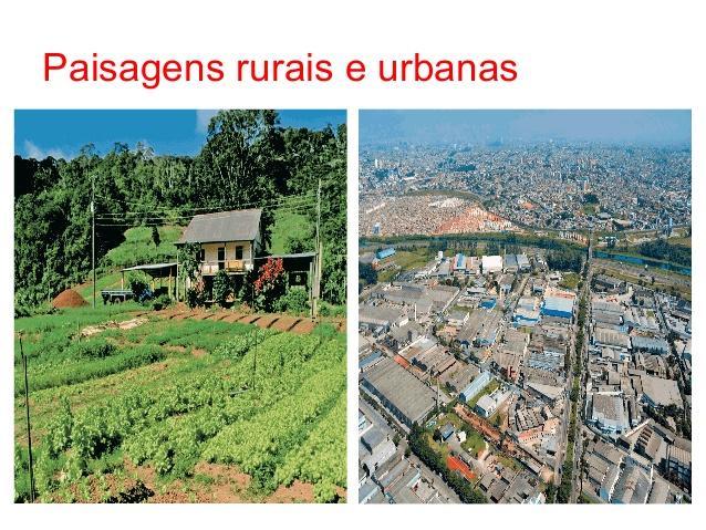 Resultado de imagem para caracteristicas das paisagens urbanas e rurais