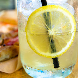 Lemonade Anyone?  by T Sco - Food & Drink Alcohol & Drinks ( water, dinner, fruit, ice, drink, lemonade, glass, dining, eat, lunch, lemon )