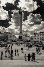 Photo: Trafalgar Square  At a visit during my hard drive, I found in my #london folder an unprocessed RAW. So I decided to edit it for you. (with #lightroom4 and #silverefex ) Can you see the Big Ben?  For all #googleplus user a good weekend, I have to work.:(   #cityscape #fotoamateur #monochromeartyclub #blackandwhite #architecturalvisions #plusphotoextract #10000photographersbwmonochrome