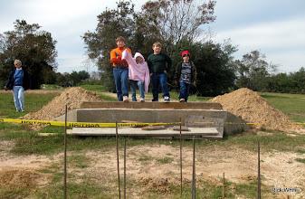 Photo: Monterey White (Grandma) with Joseph, Lizzy, Logan, and Michael on the west bridge abutment.   2009-1127 HALS Anniversary Meet
