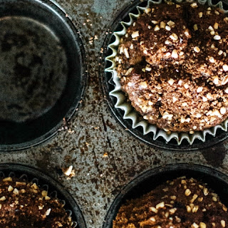 PUMPKIN SPICE ESPRESSO MUFFINS WITH SUGARED OAT CINNAMON CRUMBLE