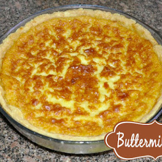 Easy Homemade Buttermilk Pie